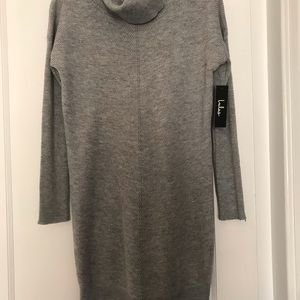 Lulus tea reader light grey sweater dress